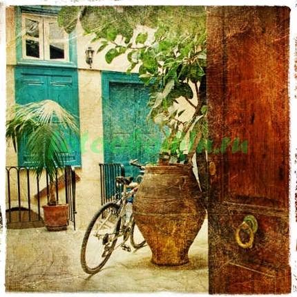 Фотообои Велосипед во дворе