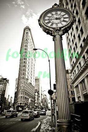 Фотообои Часы в Нью-Йорке