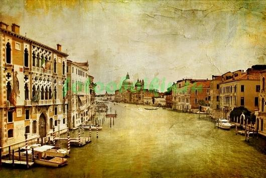 Старая фреска с видом Венеции
