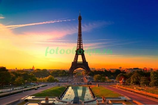 Эйфелева башня красивый закат