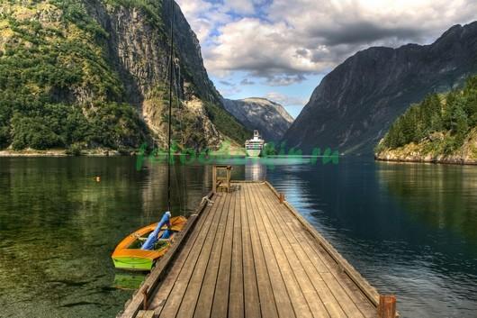 Причал на озере 3Д
