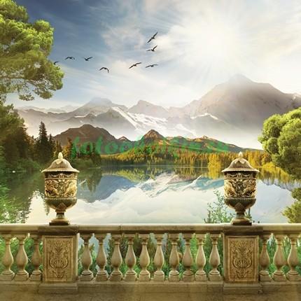 Терраса 3Д с видом на озеро