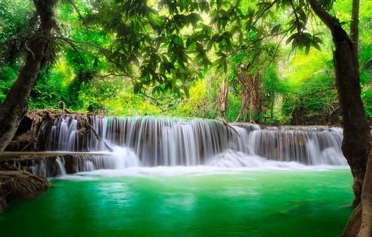 Водопад в лесу 3Д