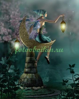Фея в сказочном лесу