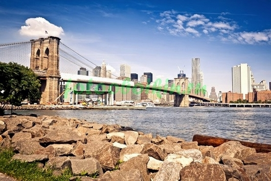 Фотообои Берег с видом на Нью-Йорк