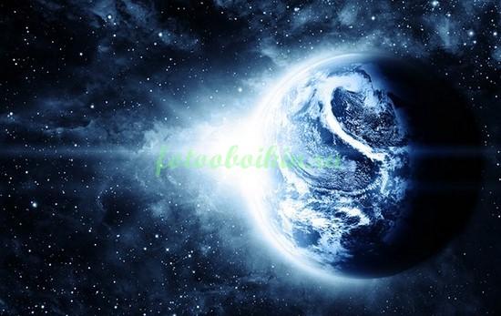 Земля на фоне звезд