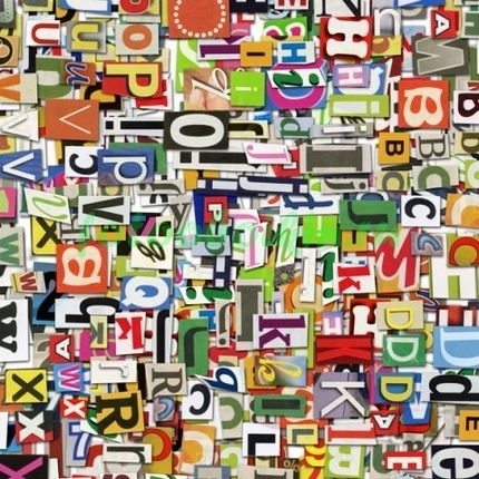 Бумажные буквы