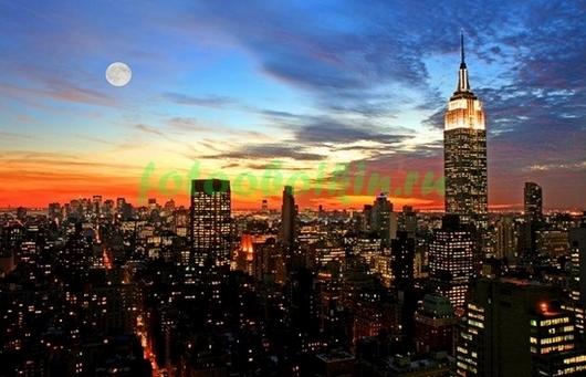 Нью-Йорк оранжевый закат