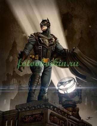 Бетмен на небоскребе