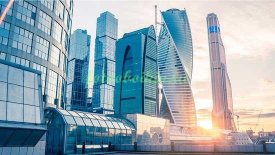 Москва Сити на рассвете