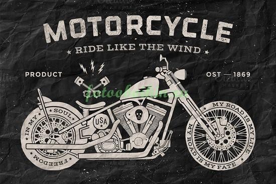 Мотоцикл рисунок