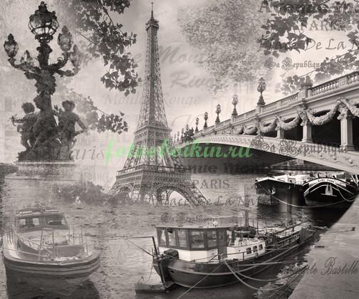 Фотообои Коллаж Париж