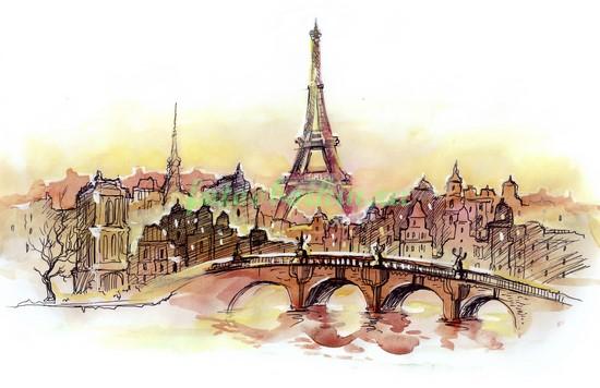 Париж рисунок