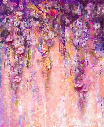 Фотообои Панно Летние цветы 21