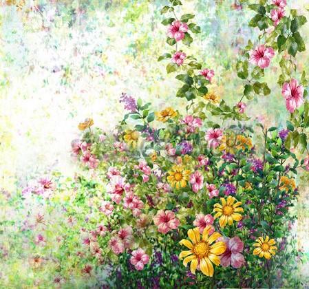 Фотообои Панно Летние цветы 34
