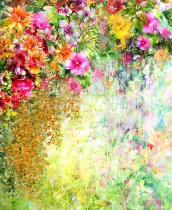 Панно Летние цветы 38