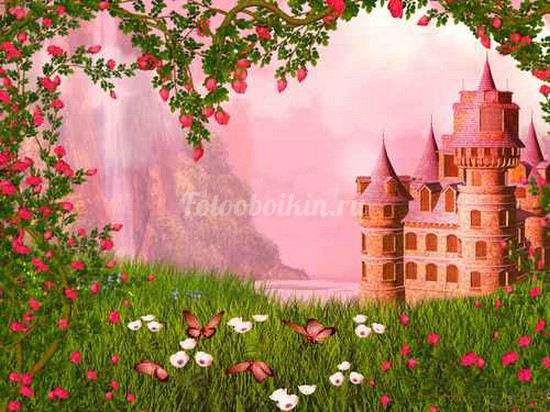 Замок в розах