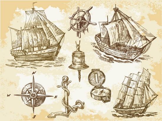 Корабли старый набросок