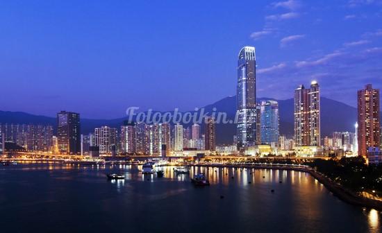 Гонконг ночью