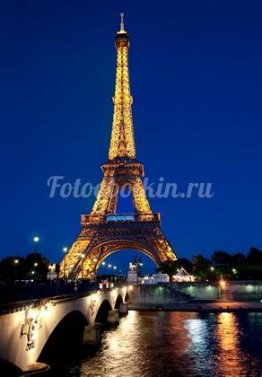 Эйфелева башня вид с реки