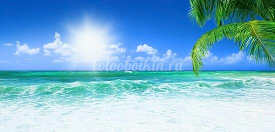 Волны в море солнечный день