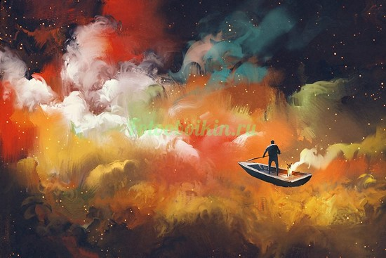Лодка на облаках
