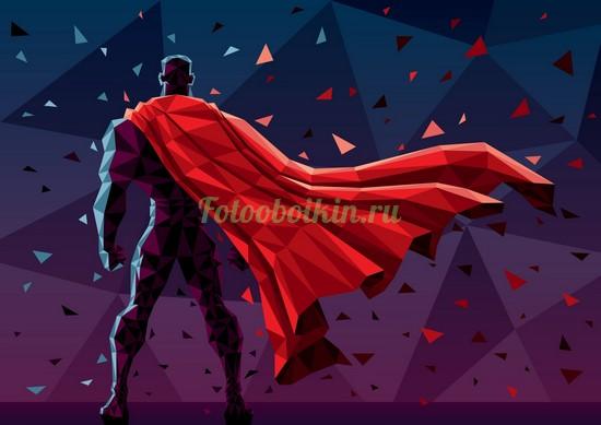 Супергерой в красном плаще