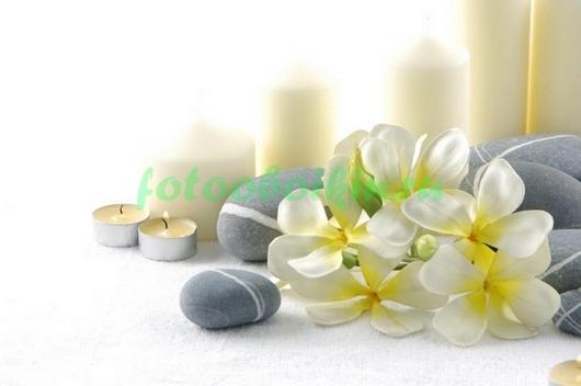 Свечи с орхидеей
