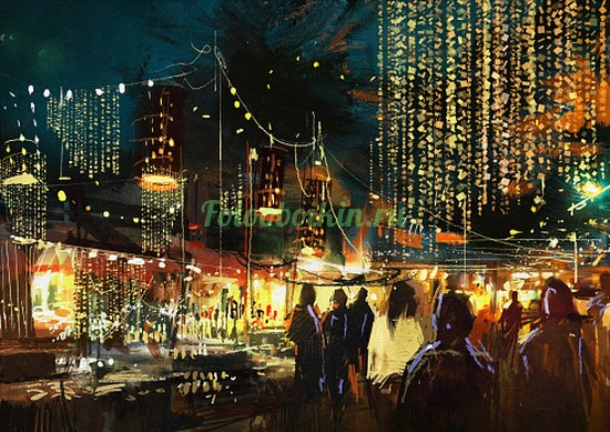 Вечерние огни улиц