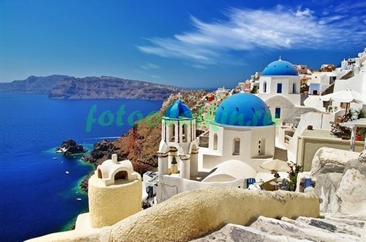 Голубое море в Греции