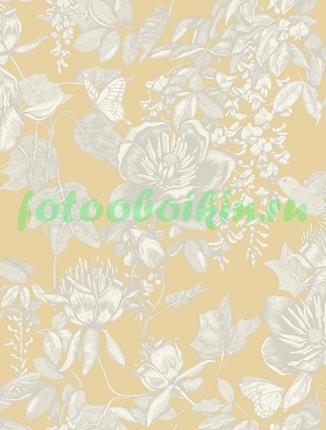 Фотообои Цветы на желтом фоне