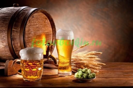 Натюрморт с бокалом пива