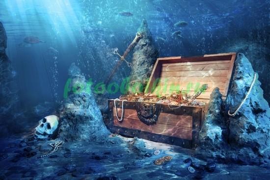 Фотообои Сундук под водой