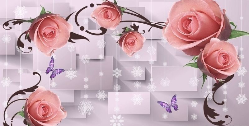 С розами 3д