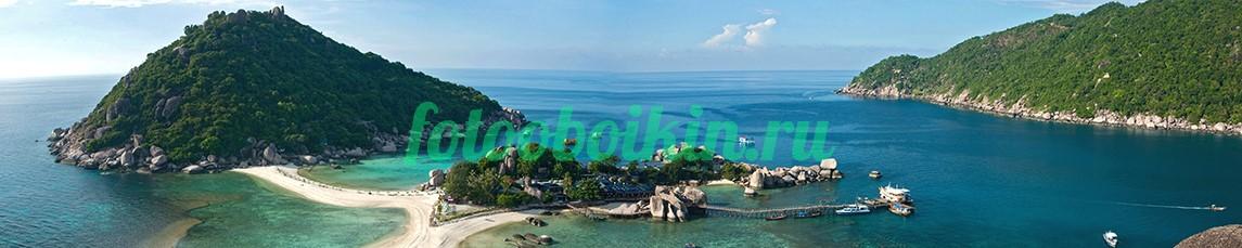 Фотообои Острова в синем море