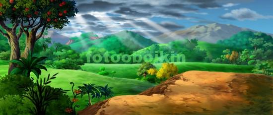 Фотообои Полянка под горой