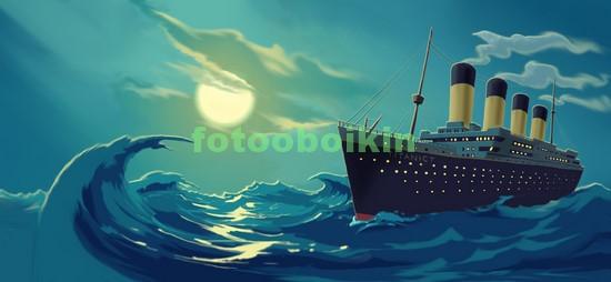Фотообои Титаник под луной