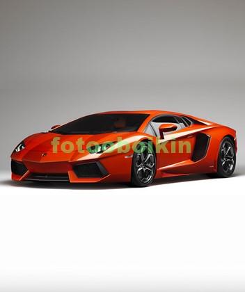 Фотообои Красная машина на сером фоне