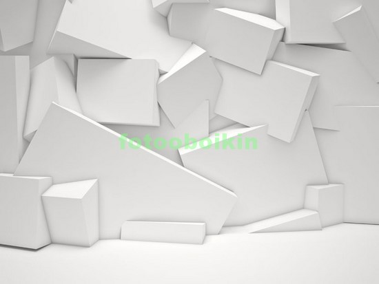 Белая стена из блоков