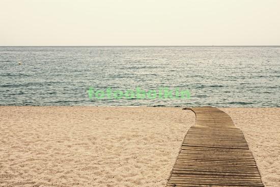 Фотообои Пляж осенью