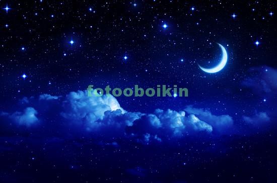 Фотообои Ясный месяц в небе