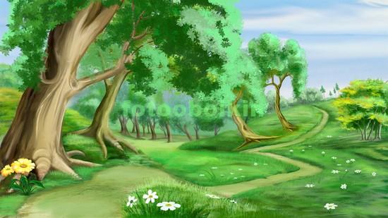 Тропинка на лужайке