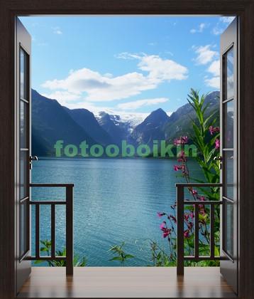 Фотообои Террса с видом на озеро