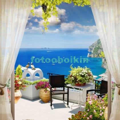 Фотообои Террса в Греции