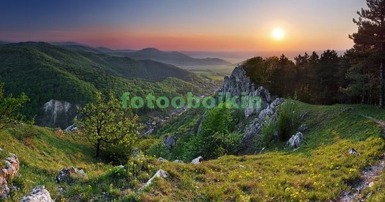 Фотообои Альпийский летний закат