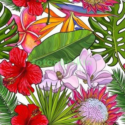 Фотообои Красивые цветы узор