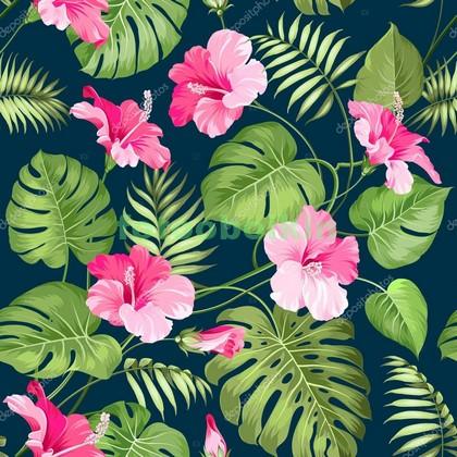 Фотообои Розовые цветы узор