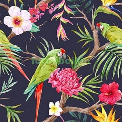 Фотообои Зеленые попугаи