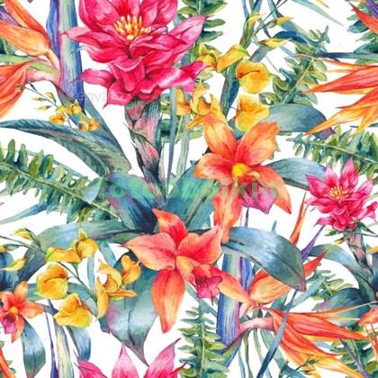 Фотообои Яркие цветы узор