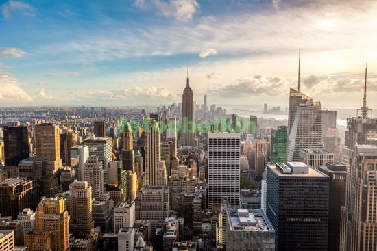 Фотообои Солнечное утро Нью-Йорк
